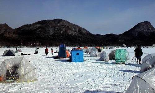 榛名 湖 ワカサギ 釣り 2020